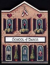 Brandywine Collectible Houses & Shops: SCHOOL OF DANCE - Wooden Shelf Sitter