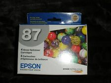 Box of 4/87 Epson Gloss Optimizer Cartridges-For Stylus Photo R1900-MIOP