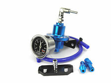 Blue FPR Adjustable Fuel Pressure Regulator & Adapter For Impreza 2.0 WRX GDA