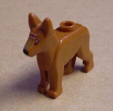 Lego Hund Polizeihund braun Alsatian deutscher Shepherd Tiere Hunde Neu