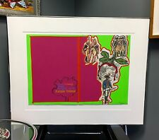 """LARRY RIVERS 1970 """"BOSTON MASSACRE"""" SERIGRAPH  PAPER WITH FRAME LIMITED EDITION"""