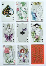 1980 'SHAPELY' p/cards. Angel Playing Card Co, Japan. SEALED. rev:GREEN/Gold