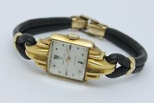 VINTAGE 1940's Rolex 18k Gold Precision Ladies Wrist Watch Art Deco Curved Case