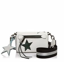 New Marc Jacobs Star Patchwork White Leather Crossbody Shoulder Bag $395