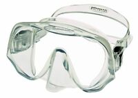 Atomic Aquatics - Frame-less Ultra Clear Lens Diving Snorkelling Mask - CLEAR
