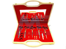 Professional 5pcs Haircutting Hairdressing Scissors SET Barber Thinning Shears