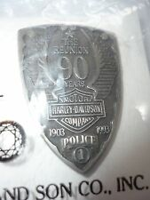 Vintage Harley Davidson The Reunion 90 Years 1903-93 Police 1, Vest Pin NEW RARE