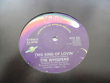 THE WHISPERS - THIS KIND OF LOVIN' - WHAT WILL I DO - CLASSIC DISCO - 12""