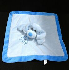 The Petting Zoo Baby Boy My First Puppy Dog Plush Blue Security Blanket Lovey