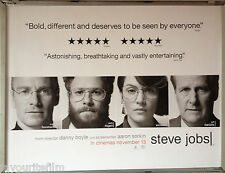 Cinema Poster: STEVE JOBS 2015 (Faces Quad) Michael Fassbender Kate Winslet