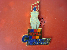 pins pin auto carburant total flamme olympique jo