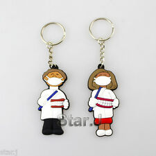 10pcs Dental Dentist Rubber KEYCHAINS Lab Promo Great Gift Couples Lovers