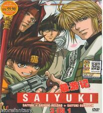 DVD Saiyuki + Saiyuki Reload + Saiyuki Gunlock 3 in 1 English Dubbed DVD Box Set