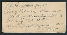 1924 AL LECONEY (Gold Died 1959), RAY DODGE +++ Olympics Vintage Autographs