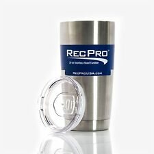RecPro 20oz Tumbler Vacuum Insulated 18/8 Stainless Steel Cup w/ Slider Lid