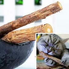 2pcs Pet Cat Kitten Chew Stick Treat Toy Natural Matatabi Polygama Catnip Molar