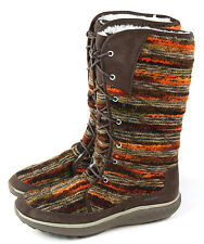 Merrell Womens Pechora Sky Lined Winter Boot Espresso Brown Multi Size 11