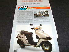 HONDA CH250 SPACY   SALES LEAFLET