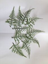 10 Artificial Plastic Fern Leaves Fake Foliage Craft Buttonholes Greenery Joblot