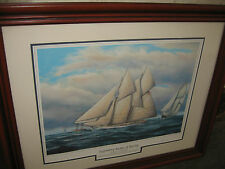 LEGENDARY YACHTS OF RACING MAGIC v CAMBRIA SIGNED LTD EDITION PRINT 1133/5000