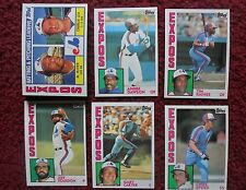 1984 Topps Montreal Expos Baseball Team Set (31 Cards) ~ Gary Carter TIM RAINES