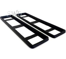 2x Rubber Car Custom Licence Number Plate Protectors Holder Frame Surrounds Trim