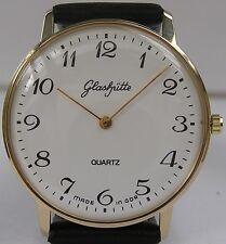 Wie neu: Große runde original GLASHÜTTE Armbanduhr GUB Kal. 38 aus der DDR