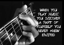 MUSIC, GUITAR, GUITARIST INSPIRATIONAL / MOTIVATIONAL QUOTE POSTER / PRINT (3)