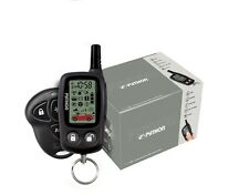 PYTHON 5303P NEW 2 WAY CAR SECURITY SYSTEM WITH LCD REMOTE START CAR ALARM