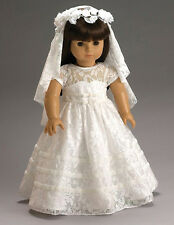 "Beautiful 1st Communion Bride Dress & Veil & Slip for 18"" American Girl Dolls"