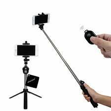 Branded Bluetooth Remote and Tripod Stand, Bluetooth Selfie Stick With Tripod
