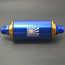 JDM-WORKS 100 Micron AN10 Aluminum High Flow Fuel Inline Petrol Filter Car Truck