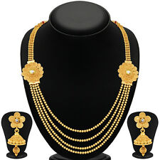 Sukkhi Marvellous Jalebi 4 String Gold Plated Necklace Set(3252NGLDPKN1000)