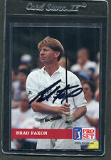 1992 Pro Set Golf Brad Faxon #113 Signed Autograph
