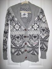 Victorias Secret PINK Hooded Cardigan Button Up Gray Size Small