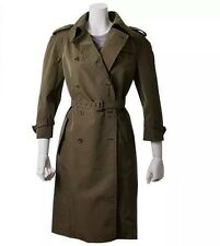 MIU MIU Cappotti Cotone Tecnico Trench Coat Olive Green IT 46 / US 10