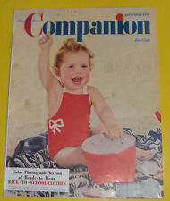Woman's Home Companion Magazine September 1940 Baby The At Beach cover Nice SEE!