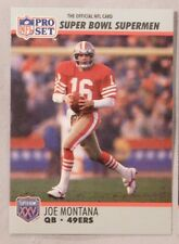 1990 Pro Set Joe Montana 49ers Super Bowl Football Card