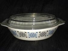 Vintage Retro Large Pyrex Chelsea Oval Casserole Pot With Lid