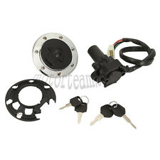 Motorcycle Ignition Switch Lock Fuel Fill Gas Cap for Kawasaki ZX-6R 2000-2002