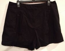 NWT Women's Milly for Design Nation Pleated Black Shorts Size14  Cotton/Spandex