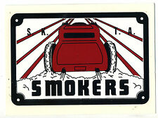 Smokers CC water slide decal hot rod drag race custom roadster coupe car club