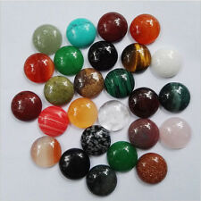 Wholesale 50pcs 12*12mm natural gemstone mixed round CAB CABOCHON stones beads