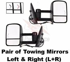 CHEVY/ GMC 03-07 POWER HEATED ARROW SIGNAL EXTENDABLE TOWING MIRROR SET PAIR LED