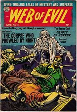 Web of Evil #15 VG+ 4.5 1954 Pre Code Horror Quality Comics Pub See My Store
