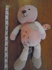 Baby girl pink vintage kitten / cat. Mothercare. Floral / spots. 1/1