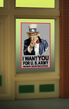"""UNCLE SAM RECRUITING WINDOW SIGN-CAN BE TRIMMED AS SMALL AS 0.725"""" W X 1.25""""T"""