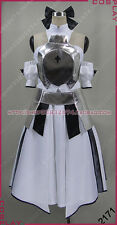 Fate/Zero SABER King Arthur White Halloween Dresses Cosplay Costume S002