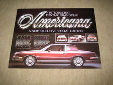 1981 Pontiac Grand Prix Special Edition USA Prospekt Brochure