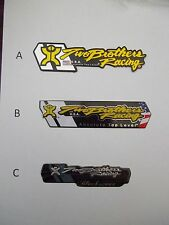 TWO BROTHERS RACING TBR ALUMINIUM HEAT PROOF EXHAUST DECAL BADGE STICKER
